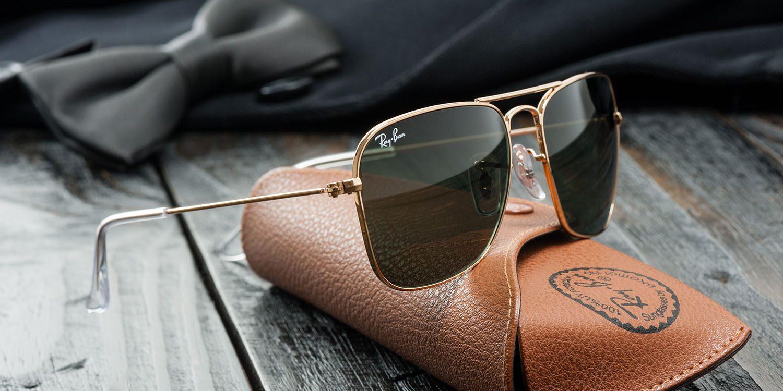 Imagem de um óculos ray-ban original