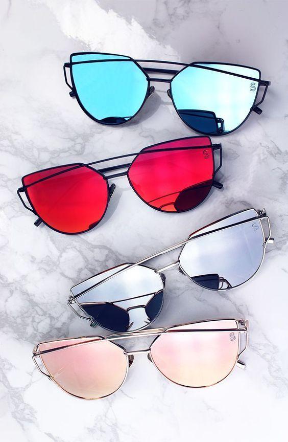 Imagem de óculos tendência com lentes espelhadas