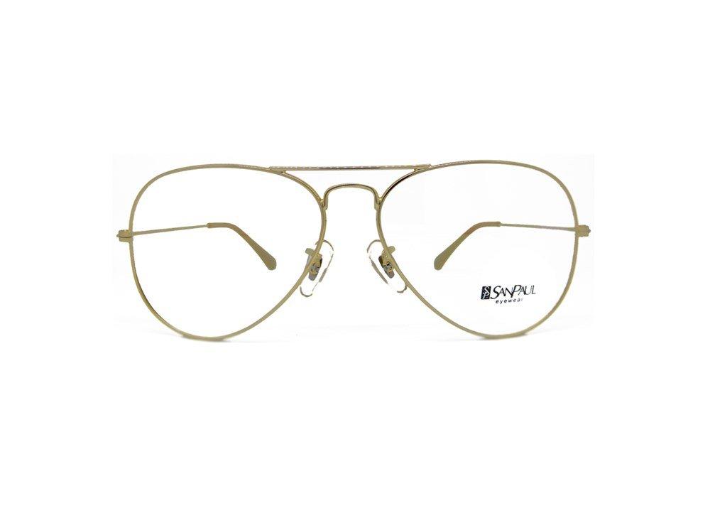 Imagem de óculos de grau modelo aviador da marca San Paul